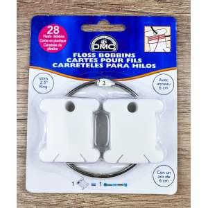 Пластиковые бобины для мулине DMC с металичным кольцом