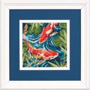 """Набір для вишивання гобеленом """"Золоті рибки - Koi Pond"""" DIMENSIONS 07214"""