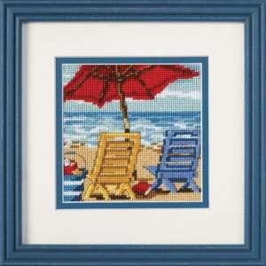 """Набір для вишивання гобеленом """"Пляжні крісла - Beach Chair Duo"""" DIMENSIONS 07223"""