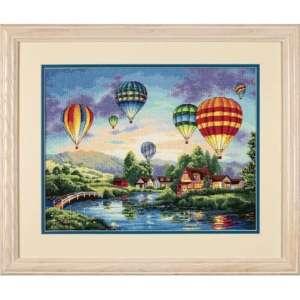 """Набор для вышивания крестом """"Воздушные шары//Balloon Glow"""" DIMENSIONS 35213"""