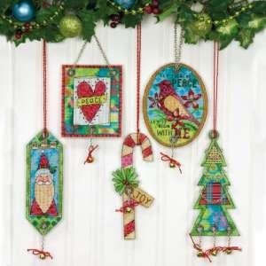 """Набор для вышивания крестом """"Украшения Джингл Белл//Jingle Bell Ornaments"""" DIMENSIONS 70-08868"""