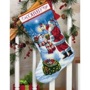 """Набір для вишивання хрестиком """"Світле свято - Holiday Glow Stocking"""" DIMENSIONS 70-08952"""