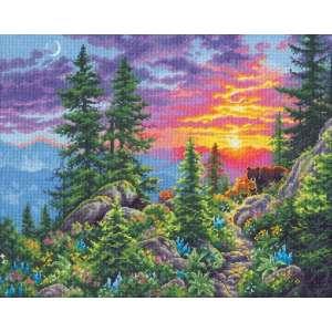 """Набір для вишивання хрестиком """"Sunset Mountain Trail - Захід сонця в горах"""" DIMENSIONS 70-35383"""