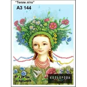 """Картина для вишивки формату A3 144 """"Тепле літо"""""""