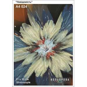 """Картина для вишивки формату А4 024 """"Невідомість"""""""