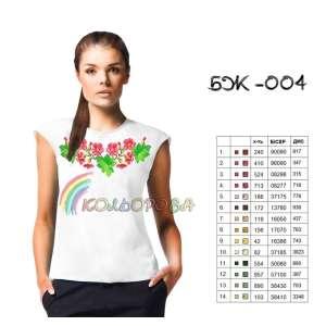 Блузка жіноча без рукавів БЖ-004