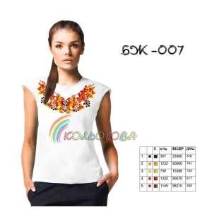 Блузка жіноча без рукавів БЖ-007