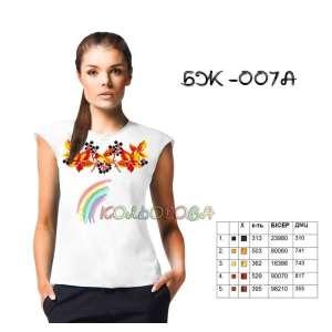 Блузка жіноча без рукавів БЖ-007А
