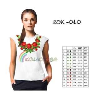 Блузка жіноча без рукавів БЖ-010