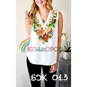 Блузка жіноча без рукавів БЖ-013