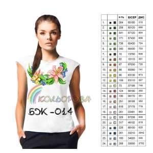 Блузка жіноча без рукавів БЖ-014