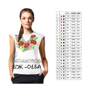 Блузка жіноча без рукавів БЖ-018А