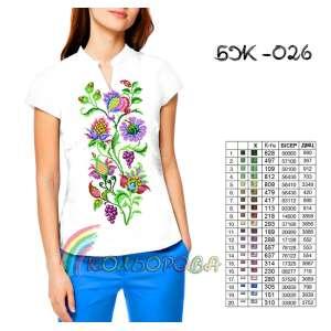 Блузка жіноча без рукавів БЖ-026