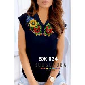 Блузка жіноча без рукавів БЖ-034