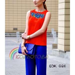 Блузка жіноча без рукавів БЖ-021