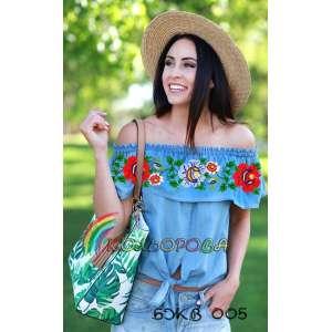 Блузка жіноча без рукавів з воланом БЖВ-005