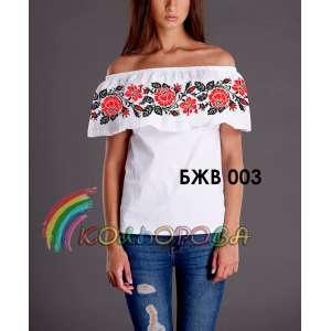 Блузка жіноча без рукавів з воланом БЖВ-003
