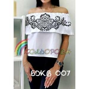 Блузка жіноча без рукавів з воланом БЖВ-007