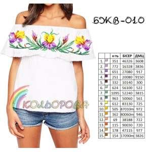 Блузка жіноча без рукавів з воланом БЖВ-010