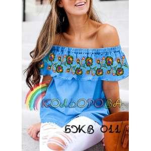 Блузка жіноча без рукавів з воланом БЖВ-011