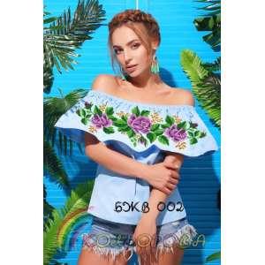 Блузка жіноча без рукавів з воланом БЖВ-002