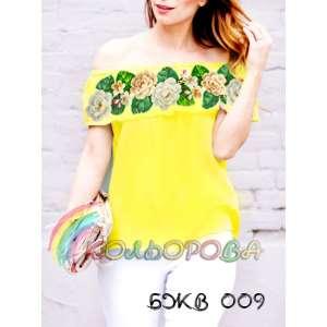 Блузка жіноча без рукавів з воланом БЖВ-009