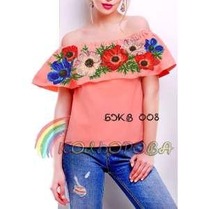 Блузка жіноча без рукавів з воланом БЖВ-008