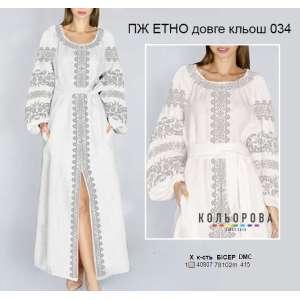 Плаття жіноче ПЖ ЕТНО длинное клеш-034