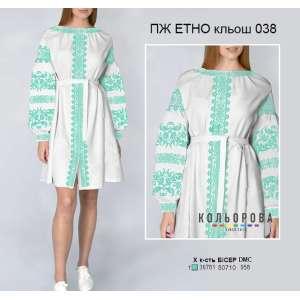 Плаття жіноче ПЖ ЕТНО клеш-038