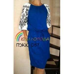 Плаття жіноче комбіноване ПЖК-057
