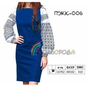 Плаття жіноче комбіноване ПЖК-006