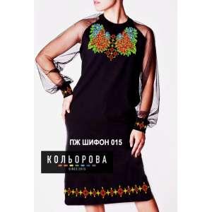 Плаття жіноче з шифоновими рукавами ПЖ шифон-015