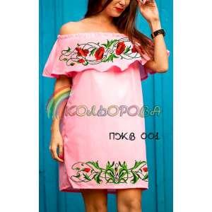 Плаття жіноче без рукавів з воланом ПЖВ-001