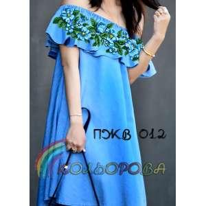 Плаття жіноче без рукавів з воланом ПЖВ-012