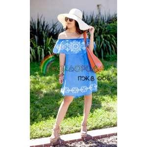 Плаття жіноче без рукавів з воланом ПЖВ-006