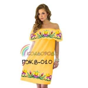 Плаття жіноче без рукавів з воланом ПЖВ-010