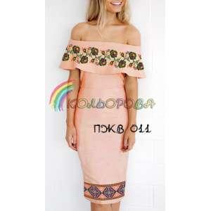 Плаття жіноче без рукавів з воланом ПЖВ-011