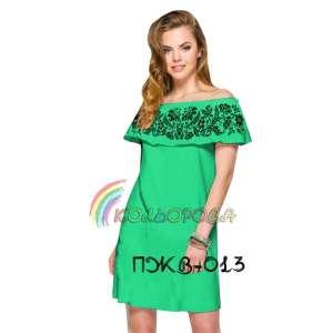 Плаття жіноче без рукавів з воланом ПЖВ-013