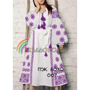 Платье женское с рукавами БОХО-007