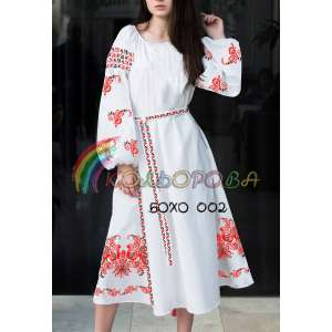 Платье женское с рукавами БОХО-002