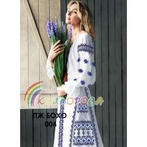 Плаття жіноче з рукавами БОХО-004