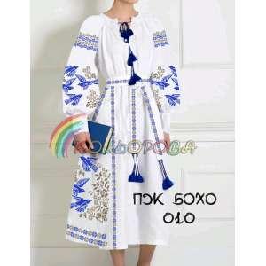 Платье женское с рукавами БОХО-010