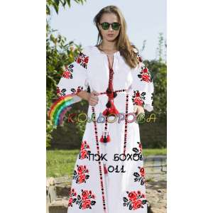 Плаття жіноче з рукавами БОХО-011