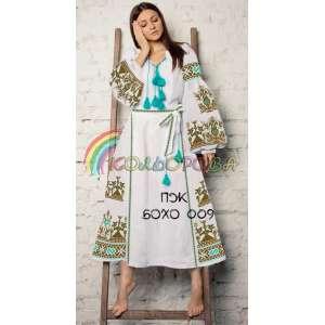 Платье женское с рукавами БОХО-009