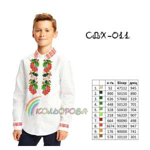 Сорочка дитяча (хлопчики 5-10 років) СДХ-011
