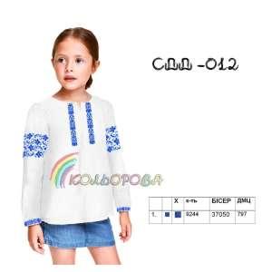 Сорочка дитяча (дівчатка 5-10 років) СДД-012