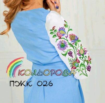 Заготовка під вишивку жіночого комбінованого плаття ПЖК-026 6d483e8199317