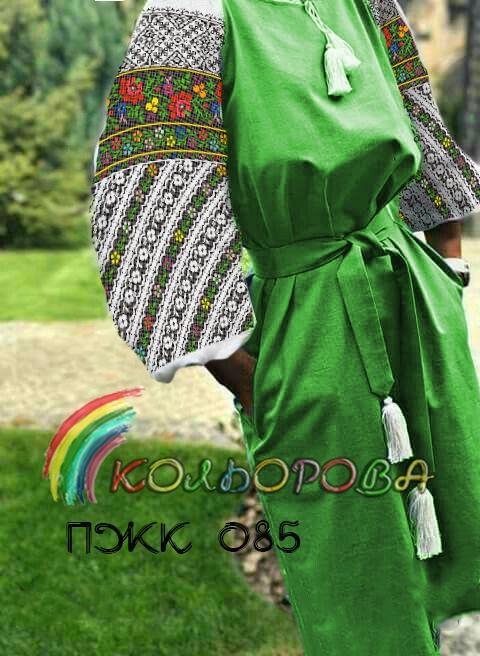 Заготовка під вишивку жіночого комбінованого плаття ПЖК-085 dc04d040dd9b6