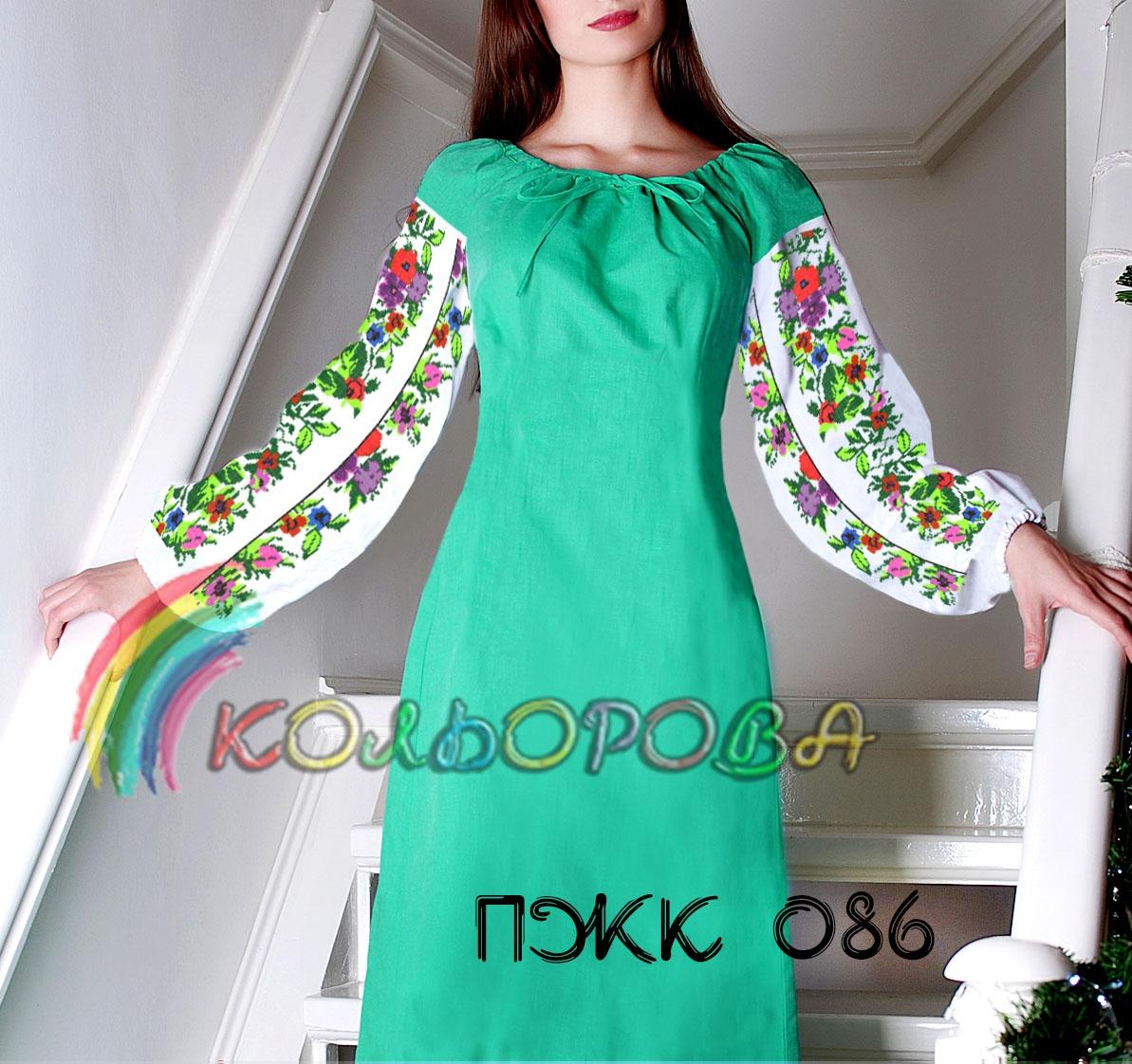 Заготовка під вишивку жіночого комбінованого плаття ПЖК-086 f4d97ecac851a