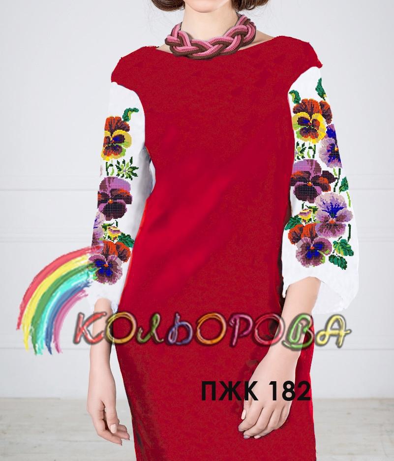 Заготовка під вишивку жіночого комбінованого плаття ПЖК-182 1fa0ca3def4e9
